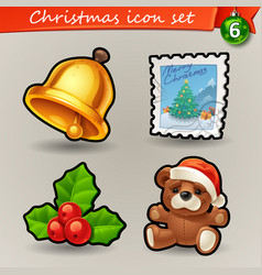 Funny christmas icons-6 vector