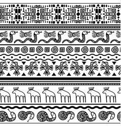 Tribal mexican seamless pattern vector