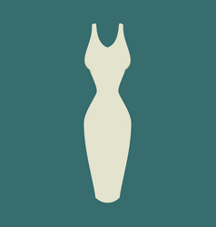 Icon in flat design fashion clothes dress vector