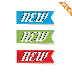 Label stitch new tag - - eps10 vector
