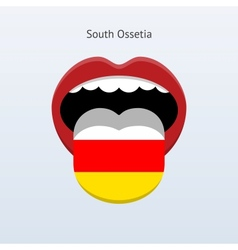 South ossetia language abstract human tongue vector