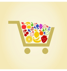 Fruit a cart vector