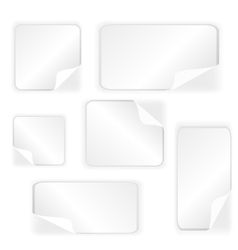 Paper stickers collection vector