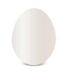 white egg vector illustration vector image