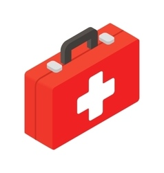 First aid isometric 3d icon vector
