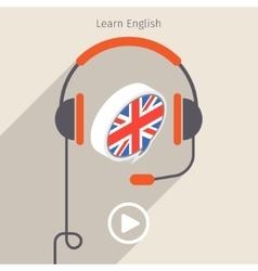 Concept of audio book vector