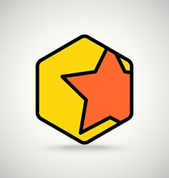 Red star appication or web interface icon vector