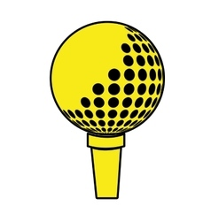 Yellow and black golf ball graphic vector