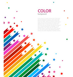 abstract colored lines and stars vector image vector image