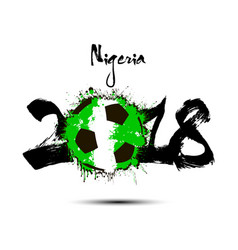 abstract number 2018 and soccer ball blot vector image