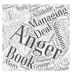 Are there anger management books available word vector