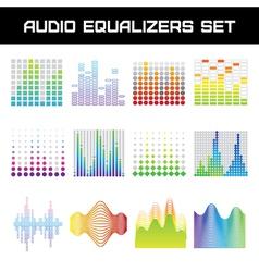 Audio equalizer set vector