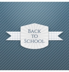 Back to School greeting Tag vector image