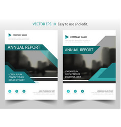blue abstract triangle annual report leaflet vector image vector image