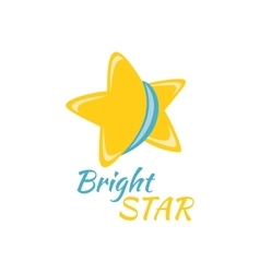 Bright star icon sign logo badge vector