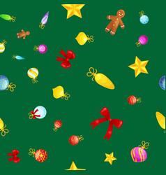 Christmass seamless pattern gingerbread man vector