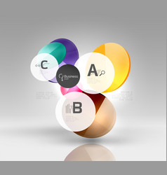circle abstract background vector image