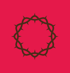 crown of thorns of the lord jesus christ vector image vector image