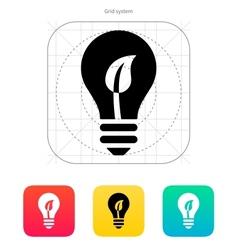 Eco light bulb icon vector image vector image