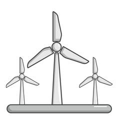 eolic turbine icon cartoon style vector image