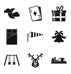 great gift icons set simple style vector image vector image
