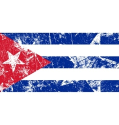 Grunge cuban flag artwork vector