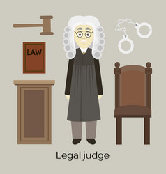 Hand drawn legal judge vector