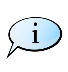 Information speech bubble vector