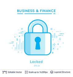 key lock symbol on white vector image