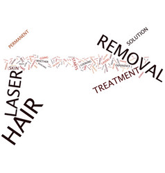 Laser hair removal tips text background word vector