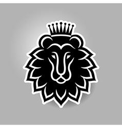 lion head symbol vector image vector image