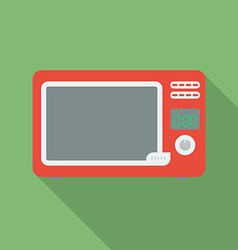 Microwave oven icon Modern Flat style with a long vector image