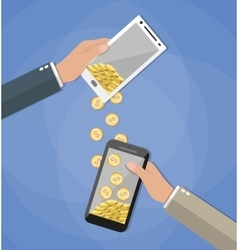 Mobile banking concpets vector image