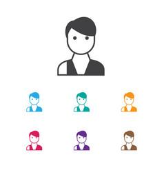 Of business symbol on vendor vector