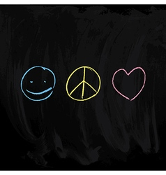 Peace and Love symbols vector image vector image