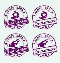 round purple stamp set vector image vector image