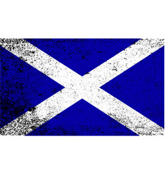 Scotish flag grunge vector