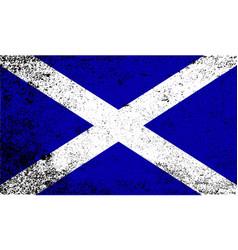 scotish flag grunge vector image vector image