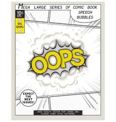 Series comics speech bubble vector image vector image