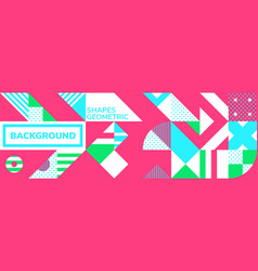 Simple banner square modules vector