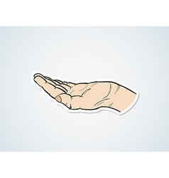 sketch of the hand vector image vector image
