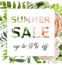 summer sale banner poster background vector image vector image