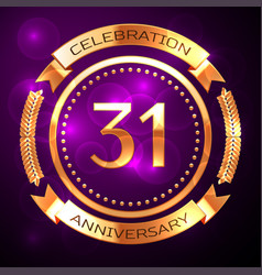 Thirty one years anniversary celebration with vector