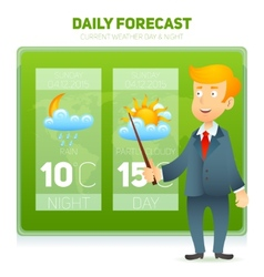 Tv weather news reporter vector