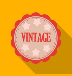 Vintage icon in flat style isolated on white vector