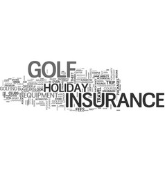 What you should know about golf holiday insurance vector