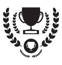 Win cup icon winning award symbol pictogram vector