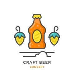 Craft beer concept vector