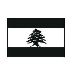 Lebanon flag monochrome on white background vector