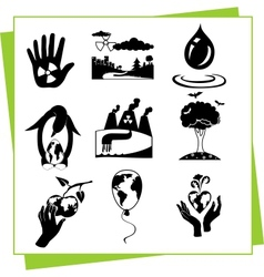 Eco Design Elements and Icons vector image